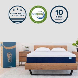 SLEEP INNOVATIONS SHILOH 12-INCH MEMORY FOAM MATTRESS BED IN A BOX