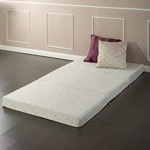folding cot with mattress